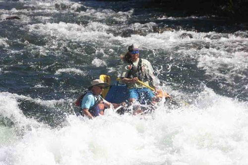 Whitewater rafting american river wouth fork hospital bar descending