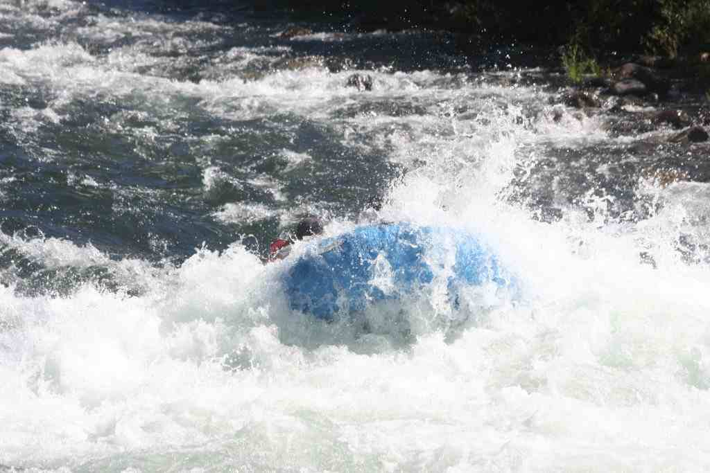 White water rafting american river gorge under water