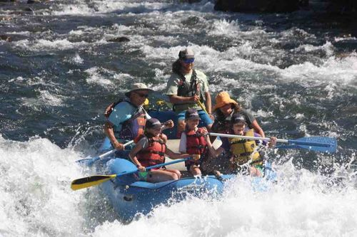 Whitewater rafting on american river south fork, apporaching hospital bar