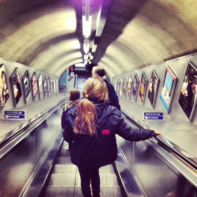Our tourist trip to London include an education about the Underground.