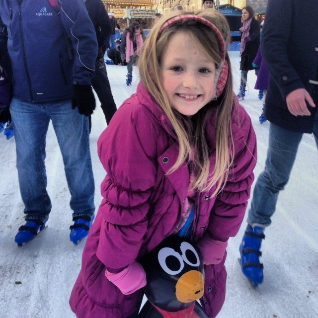 I couldn't resist including this pic of my youngest learning how to ice skate. It was a triumphant day.
