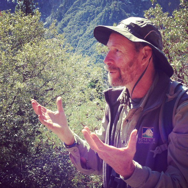 Naturalist Michael Ross was our guide for a four-hour saunter through Yosemite Valley.