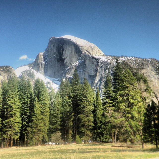 One of the best ways to visit Yosemite National Park in Northern California is with a guide. This pic if of Half Dome, which our guide pointed out is actually three-quarters!