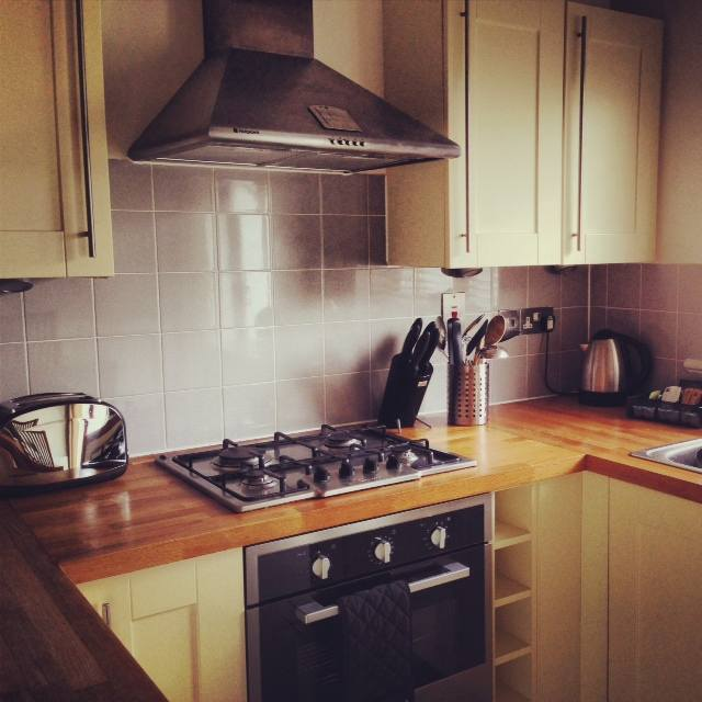 Our kitchen was compact and very functional. I loved the view over the