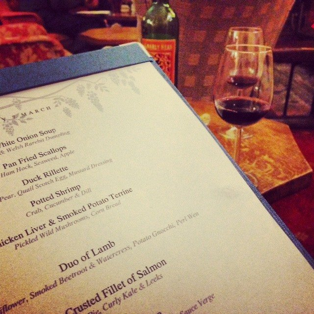 Peruse the slow-food menu  while relaxing in the bar, and then enter the formal dining room when your meal is ready!