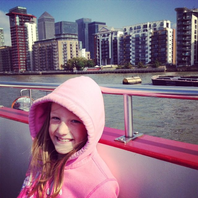 ou have a choice of views from the City Cruises River Red Rover all day travel pass. It's only £32.40 for a family ticket and you can hop on and hop off at four piers. We went all he way to Greenwich!