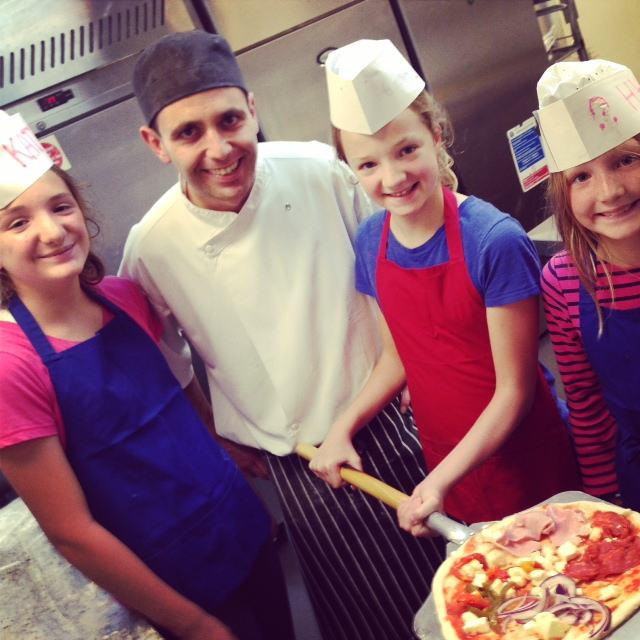 On Saturdays at the Park Plaza County Hall, kids of registered guests can participate in the Pizza Making Class.