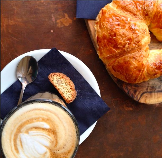 Had this lovely latte and croissant at 1855, a wine bar and kitchen in Oxford's cattle district