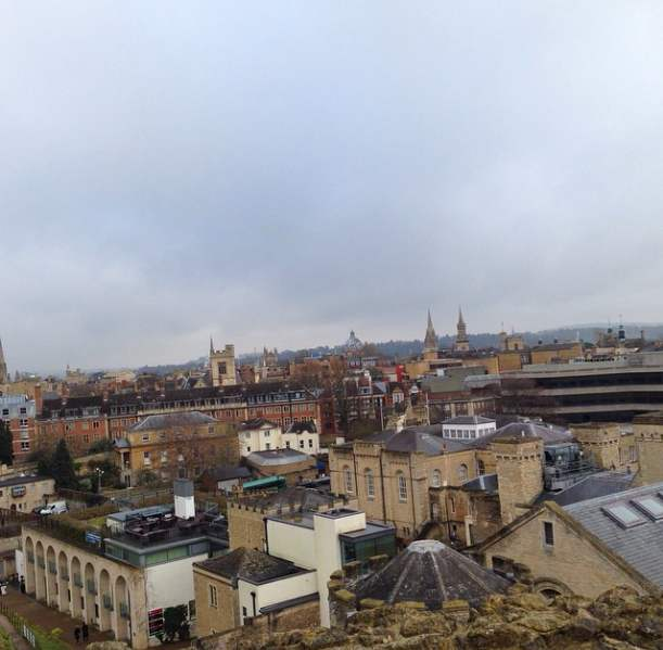 The view from the top of Oxford Castle