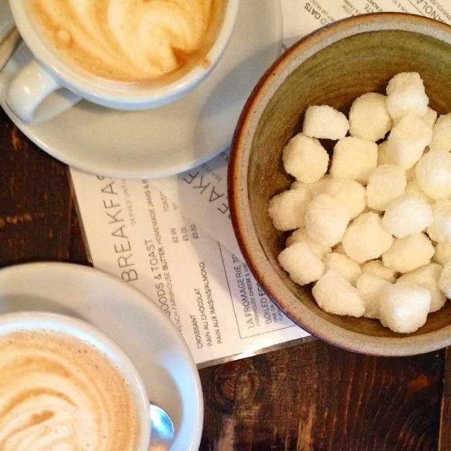 A cappuccino at La Fromagerie Cafe in Marleybone is the perfect way to start the day after a night out with friends