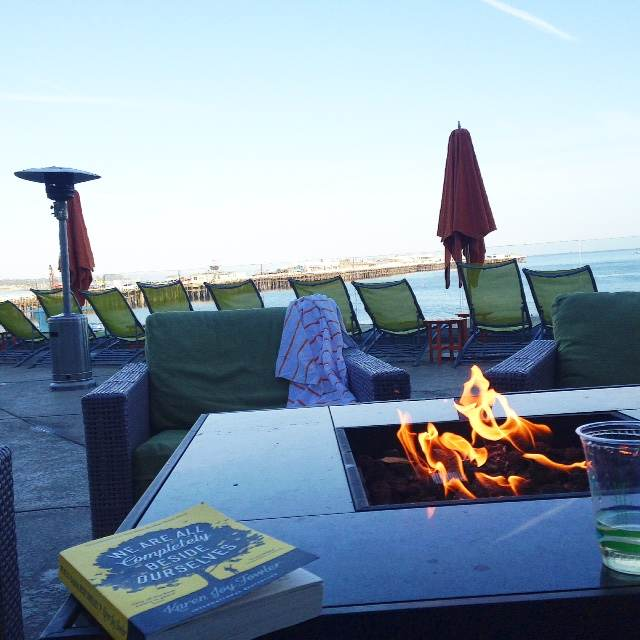 A good book, glass of wine and the promise of a California sunset - what more would a girl want?