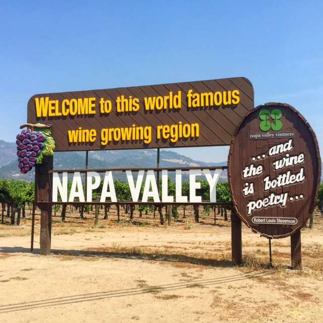 Napa - famous welcome to napa sign