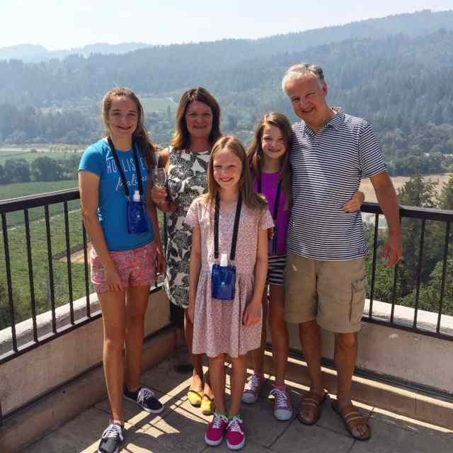 The Modern Family enjoying the view from the top of Sterling Winery in Calistoga