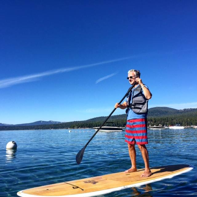 Even the Modern Dad tried out stand up paddle boarding!