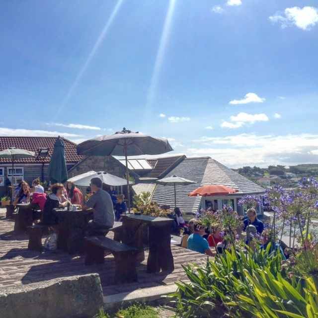 A Scilly Island MUST DO - lunch at @julietsgarden!
