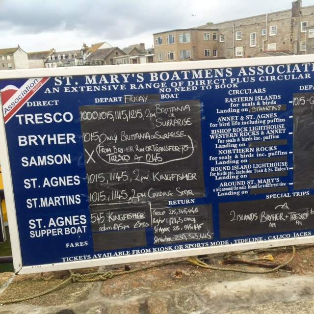 Life in the Scilly Isles revolves around the daily boat schedules to and from the main Islands. Just turn and pick which one you want to visit! No need to book!