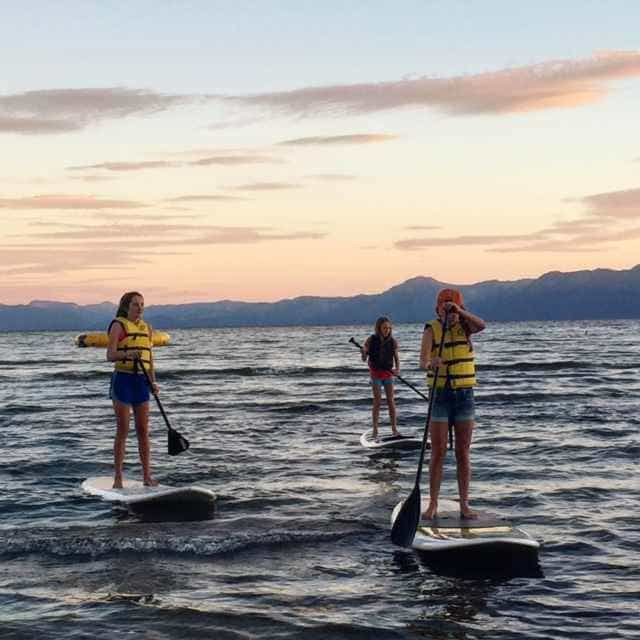 The sunset stand up paddle club!