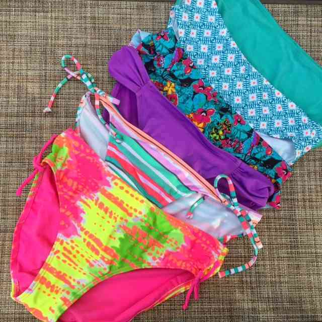 The big decision of the day - which swimsuit to wear?