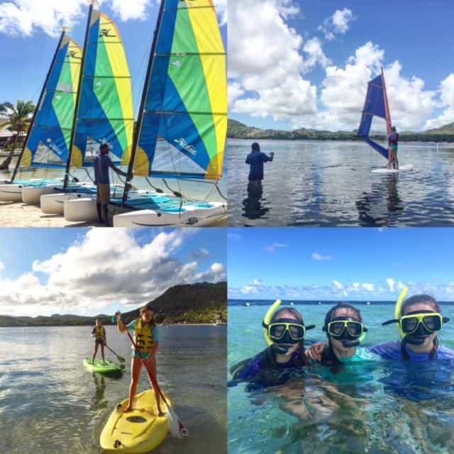 All inclusive at St James's Club extends includes water sports too! We tried them all!