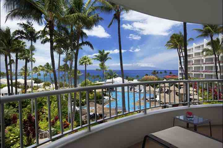 Here's the ocean view from their suites! The all-suite accommodations are the largest on Maui. Photo credit: Fairmont Kea Lani