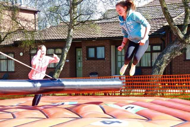 The Sweeper is a fun family activity where you have to jump over a rising bar. The girls loved it!