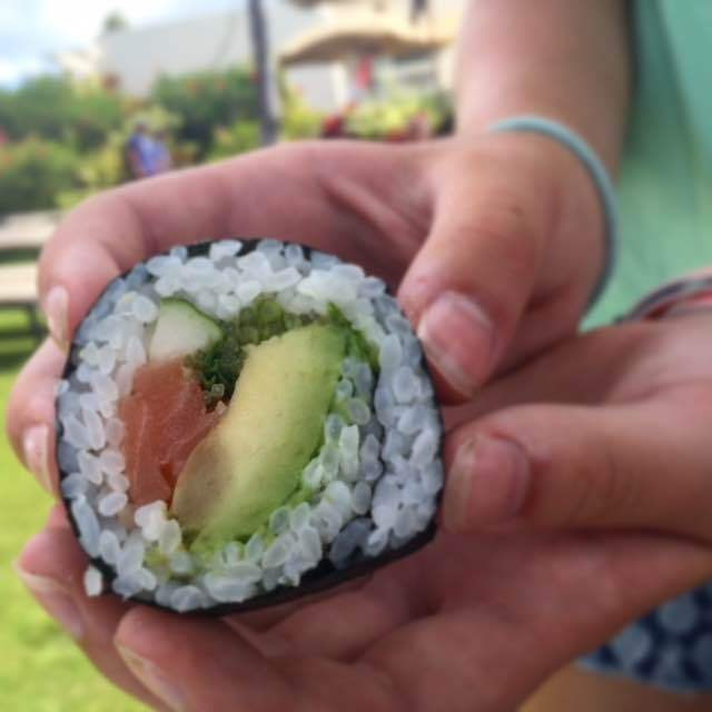 Look what the girls made in the Keiki (Kids) Sushi Making class! It's all part of their Summer Experiences Program and included in your stay!