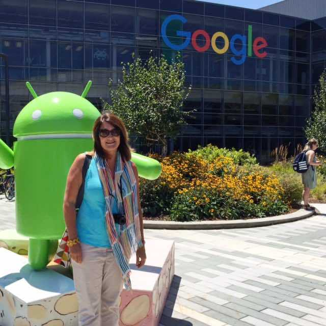 Googleplex has thousands of visitors each year wanting to soak up that Silicon Valley atmosmosphere. Here's a pic with me and the android Nougat statue.