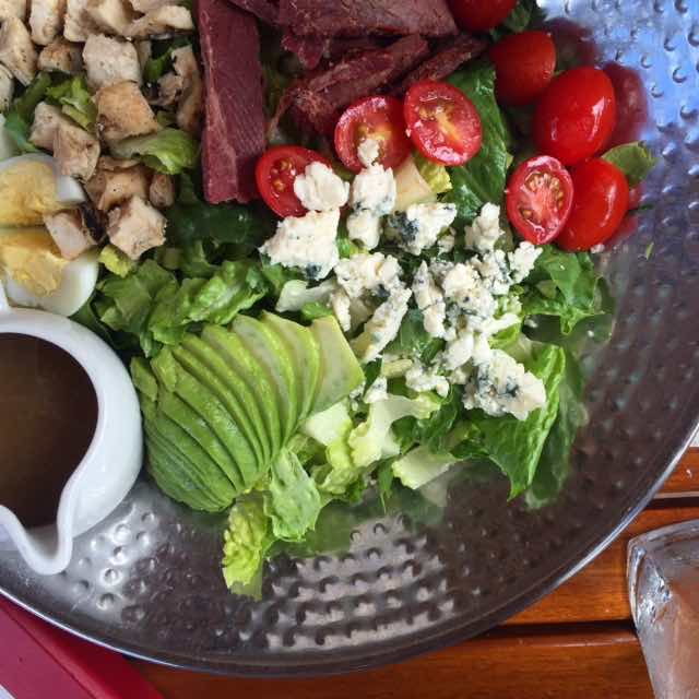 Doesn't lunch look good? It's a Hawaiian Cob Salad @westinmaui #westinpoolside #relishmaui