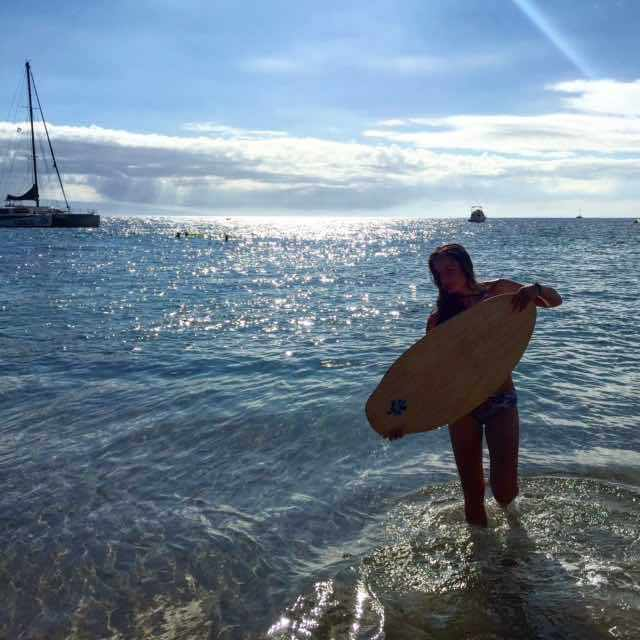 amodernmotherWe brought our skim board to Maui and had a great time trying it out on Ka'anapali Beach