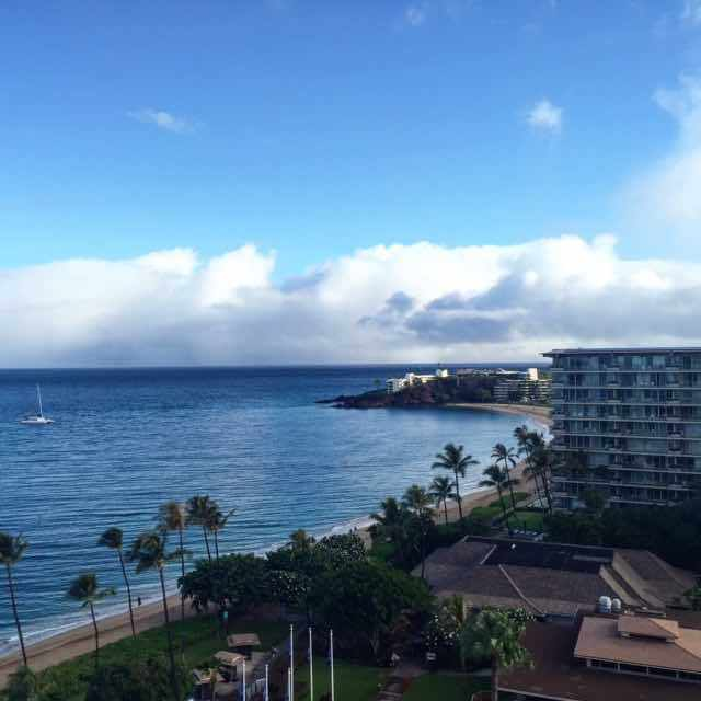 "The day is just starting in Ka'anapali ... up at 6 am to this gorgeous ocean view from our hotel room. My youngest just woke and and said ""this is the life, mummy!"" Next is surf lessons with @kaanapalisurf which is just a few steps always from the hotel. I think I have to agree #thisisthelife"