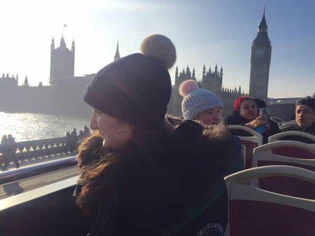 There's nothing like viewing London from the top of a double decker bus!