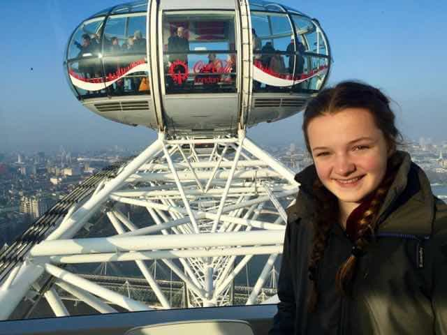 At the top of the London Eye!