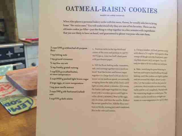 On the iPhone 6: Here's a pic of a recipe of my favourite oatmeal raison cookies, via the Model Bakery Cookbook.