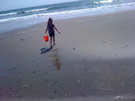 Red pail beach