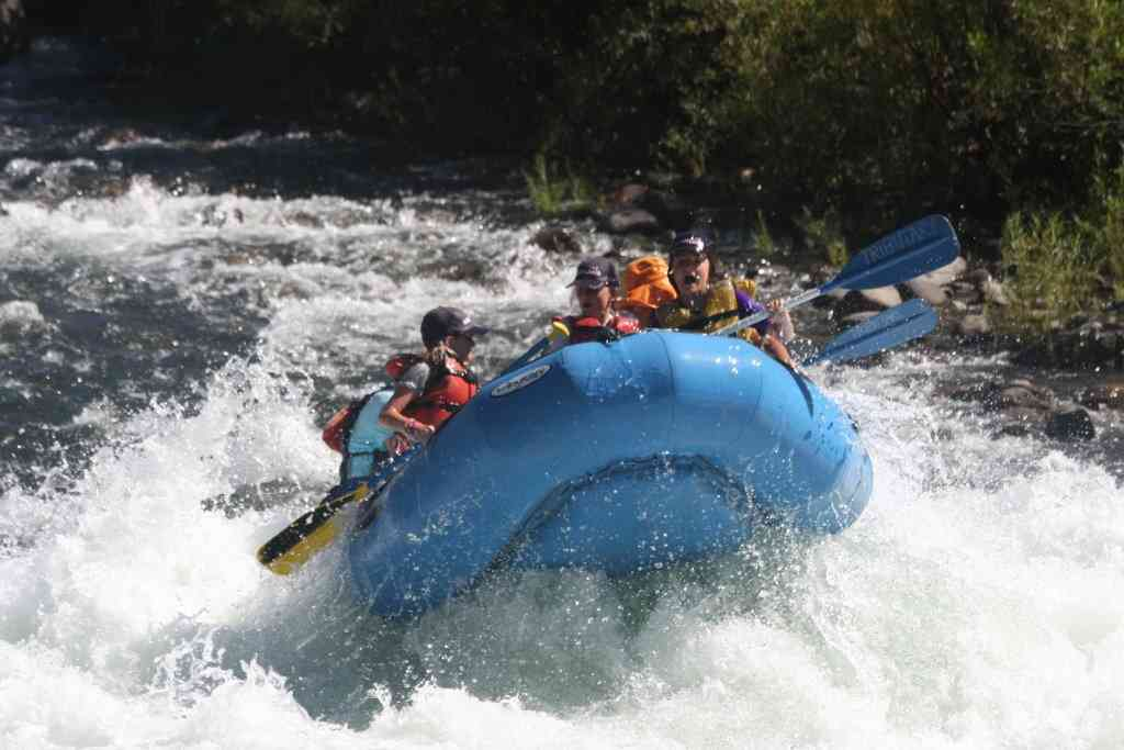 Whitewater rafting american river gorge scared expression