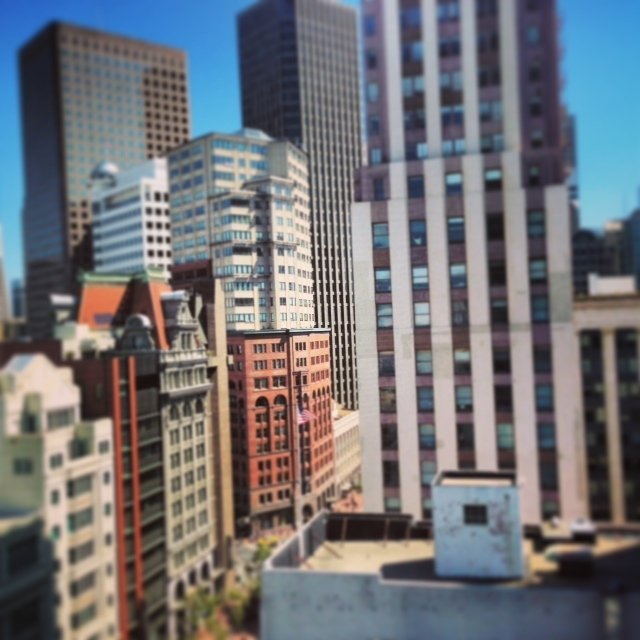The stunning view from our room at the Four Seasons Hotel San Francisco
