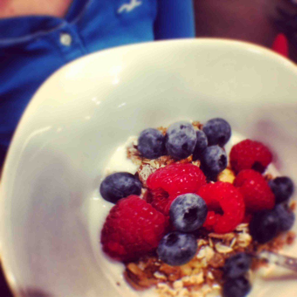 When in season, breakfast in The Glasshouse sometimes features summer berries from their garden.