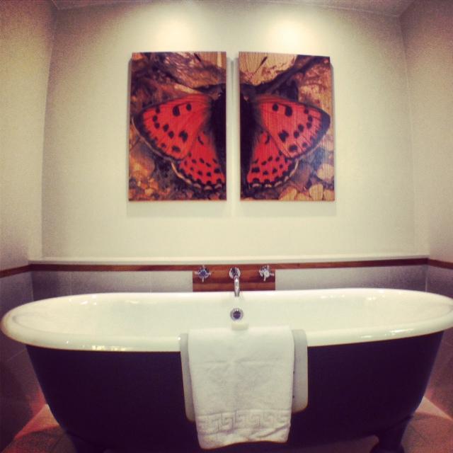 The gorgeous, minimalist bathroom at The Grove.