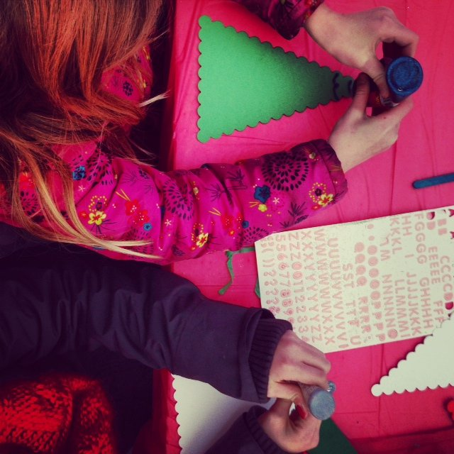 In the Arts and Crafts tent at The Little Welly you could write a little to Santa, decorate a Christmas tree, or design your own welly!