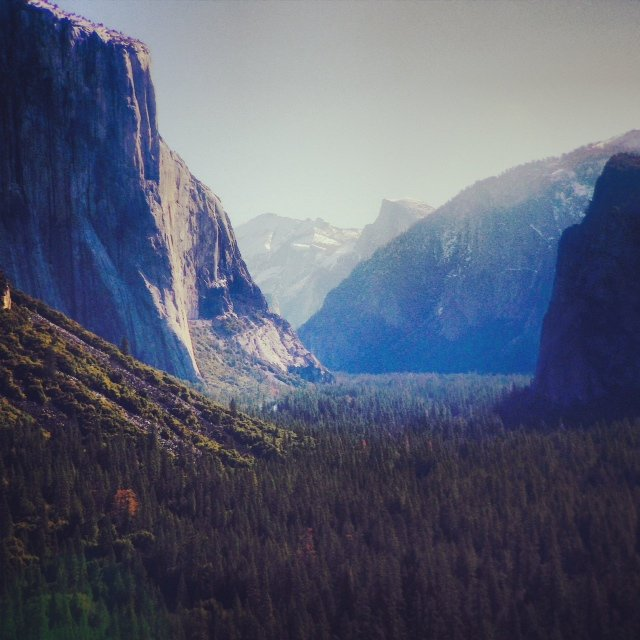 Tunnel View: This is often the first view a visitor has of Yosemite Valley. It's immediately after exiting a tunnel.