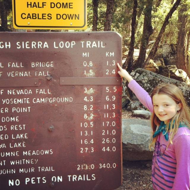 We hired bikes to tour Yosemite Valley floor on our own, stopping at Happy Isles to take the short (but steep) trail to Vernal Falls.
