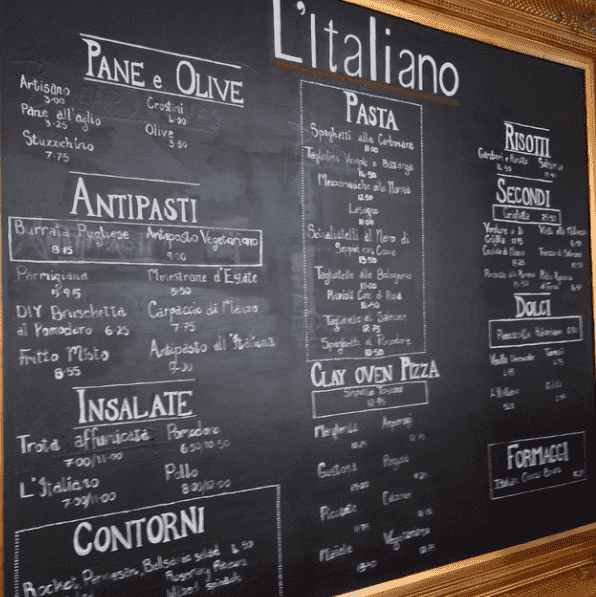 The L'Italiano menu at Park Plaza County Hall includes how made pastas and crispy pizzas (chef's own secret recipe), risotto dishes and some great mains. It's also family friendly and affordable!