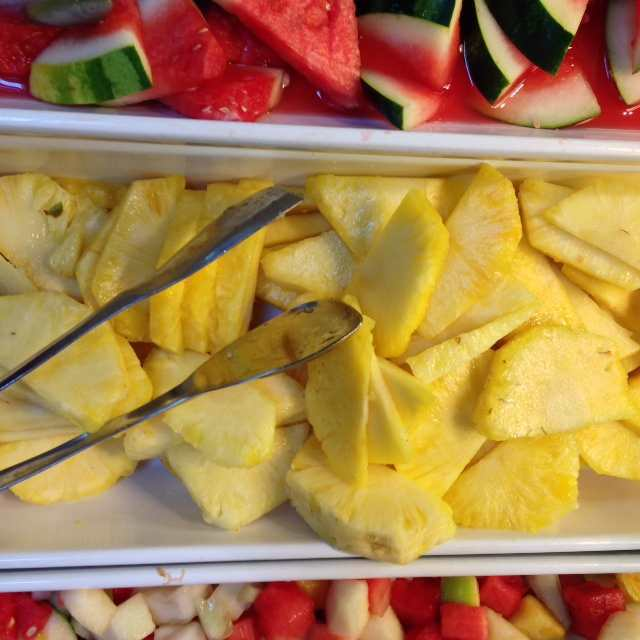 love a breakfast buffet with lots of fresh fruit on offer! This one at the Park Plaza County Hall also has Belgian waffles!
