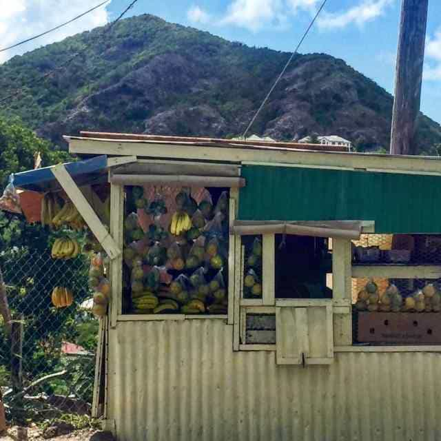 Loved this colourful banana stand off a main road in Antigua