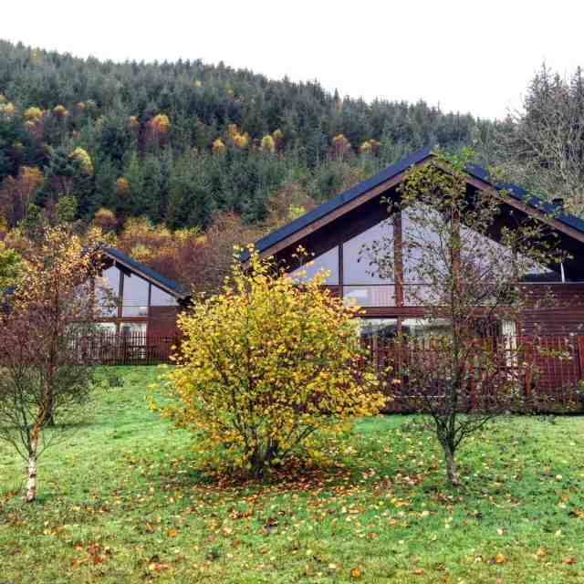 We love staying at Forest Holidays in Strathyre, Scotland. The cabins are warm, comfortable and have hot tubs! You can do as much as you want. Or just relax and read a book. It's a fabulous holiday.