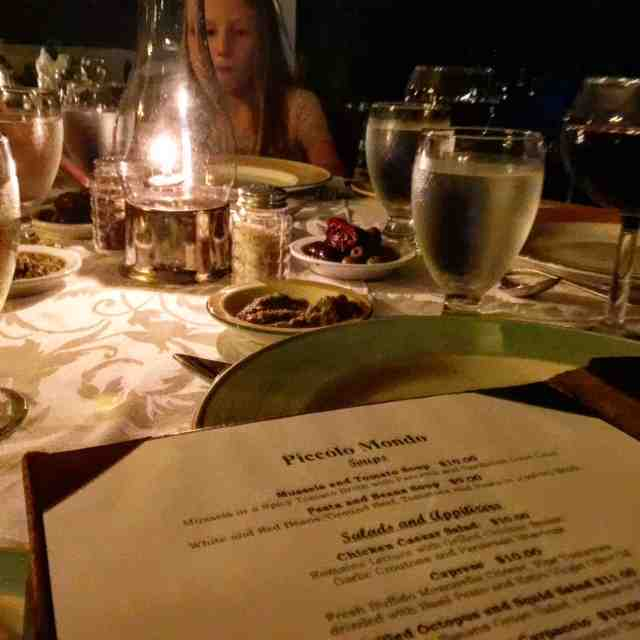 "Remembering our ""fancy"" dinner (the girls' words) at Picolo Mondo at @stjamesclub in Antigua. The resort has 4 restaurants and a grill"