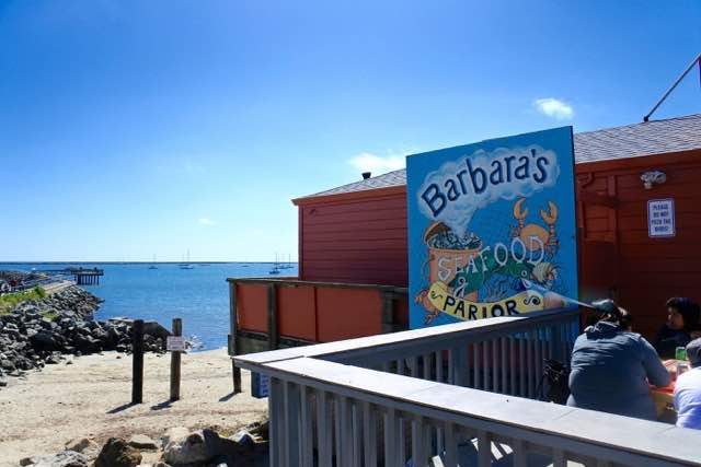 There are several places to eat, including Barbara's Fish