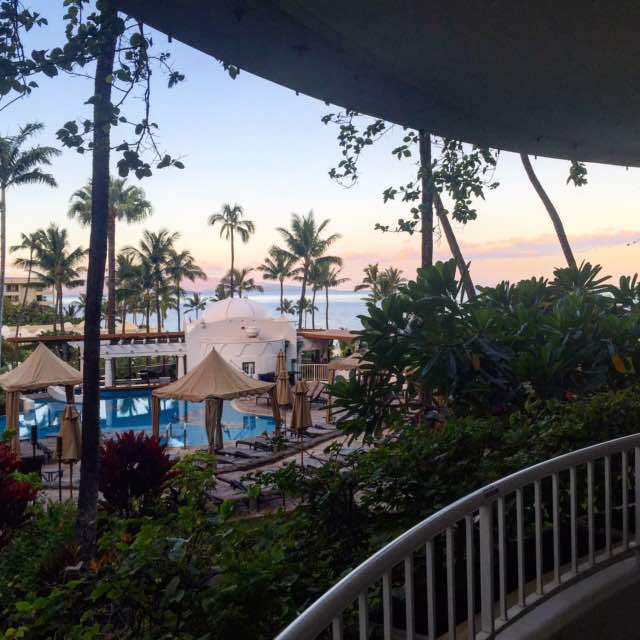 Good morning from the balcony of our suite at the Fairmont Kea Lani in gorgeous Waliea, HI. Today we are going on a snorkelling trip to Molokini with @sailtrilogy We've got our bathing suits, sunscreen and huge smiles!