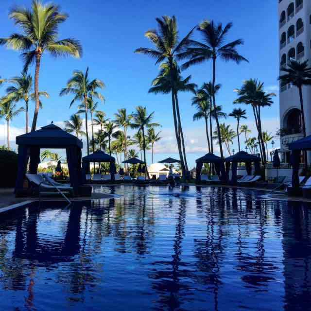 It's nice to sneak away to the tranquility of the adult pool at the Fairmont Kea Lani, if only for a few minutes to take this photo!