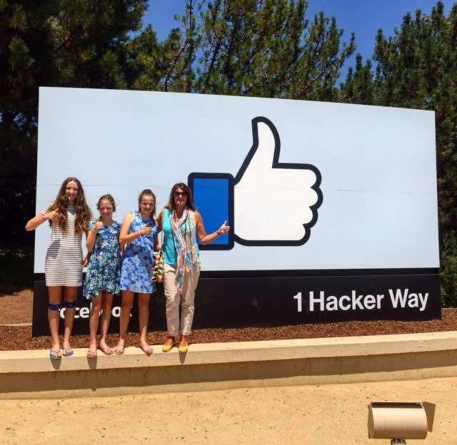 At Facebook HQ